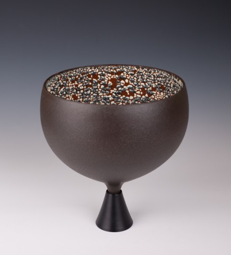 "Chalice by Mary Fox: 10 1/4"" T x 9"" W"