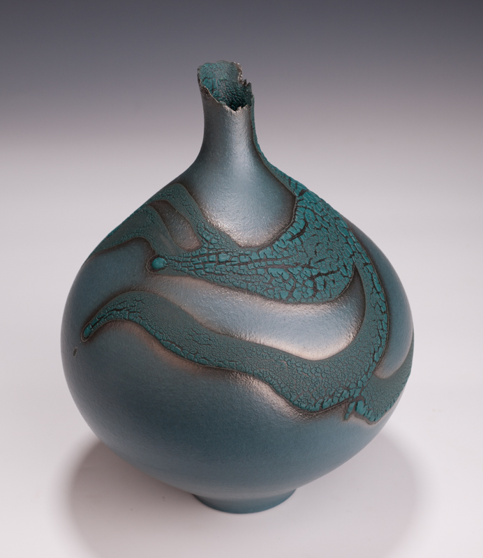 "Bottle Vase by Mary Fox-10 1/2"" T 2013"