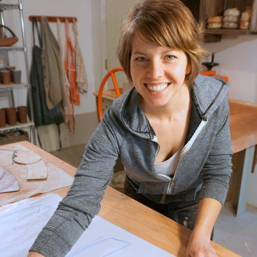 Sandra Harquail in her studio
